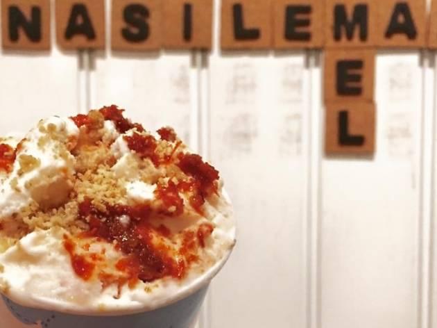 Nasi lemak gelato at Cielo Dolci, RM8.50 per scoop