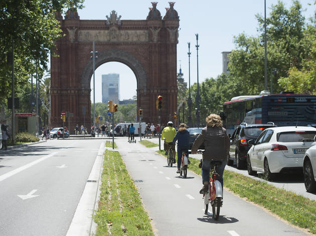 Ruta bicing Arc de Triomf