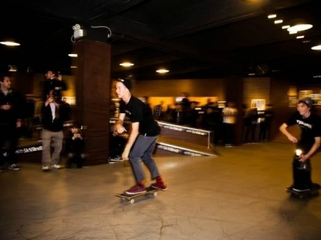 Shot of skateboarder at Vans sk85ive2