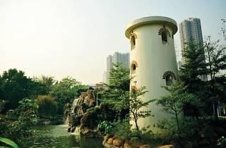 Shot of tower at Tsuen Wan Park