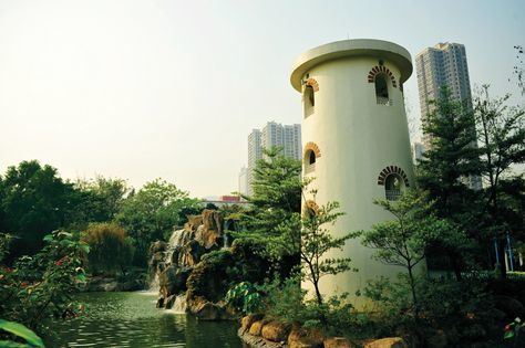 Shot of tower at Tsuen Wan Park