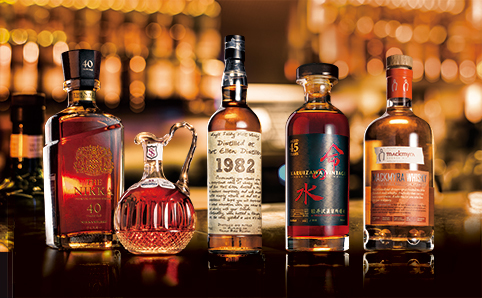 Shot of the rarest whiskies, from left to right, and where to drink them