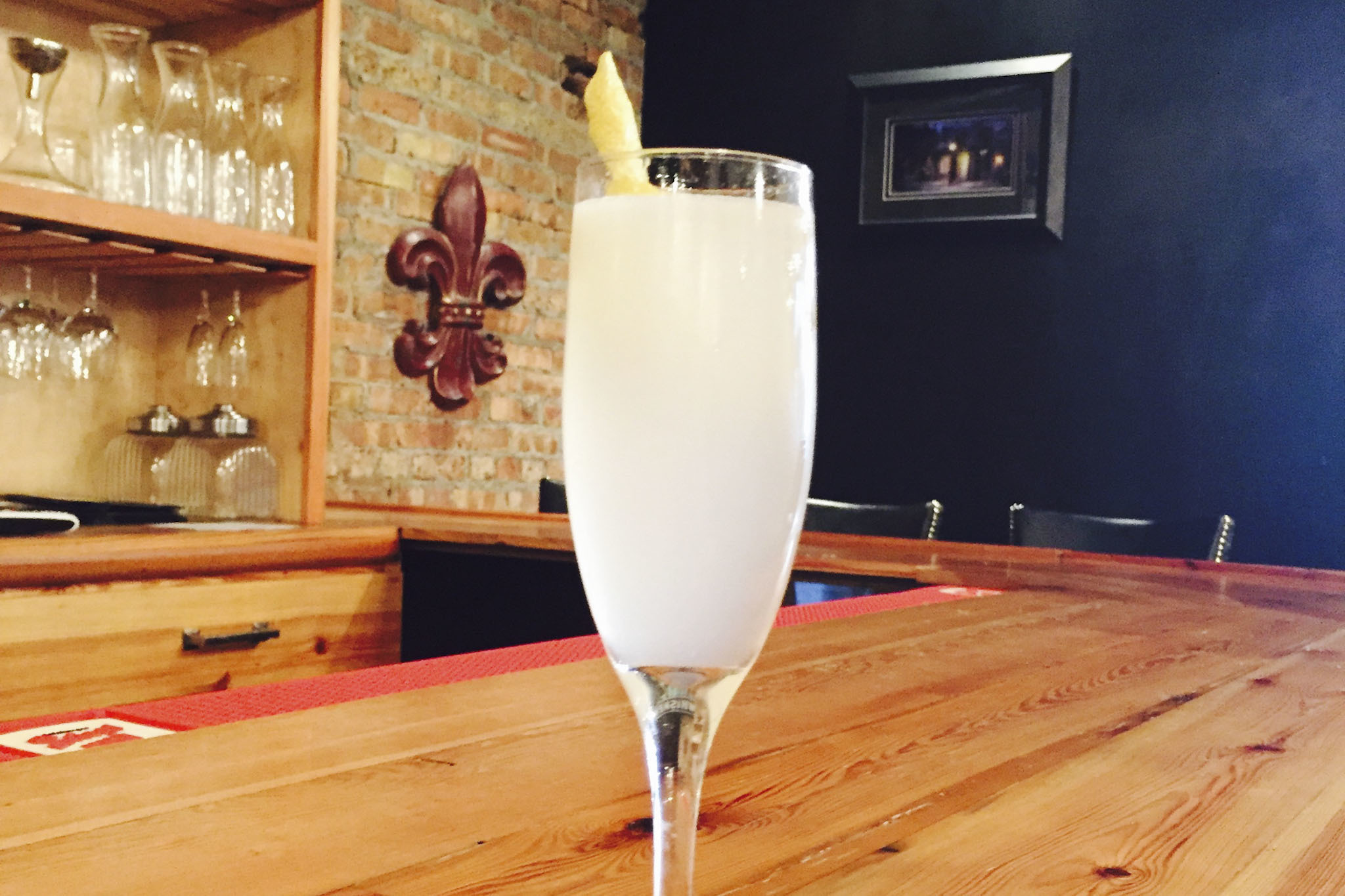 Pearl's French 75 at Pearl's Southern Comfort