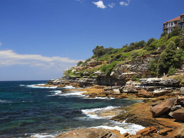 A view of Mackenzies Point on the Bondi to Coogee coastal walk