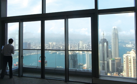 Hong Kong's Top 10 Expensive homes - View of Central from Conduit Rd, Mid-levels