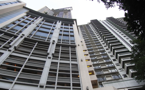 Hong Kong's Top 10 Expensive homes - upward shot of Branksome Crest, Mid-levels