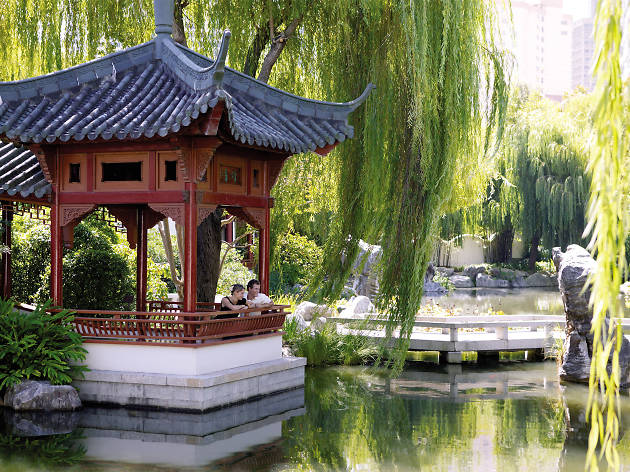Pond at Chinese Garden of Friendship