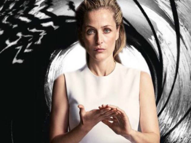 Gillian Anderson as Bond, from her Twitter @GillianA, 2016