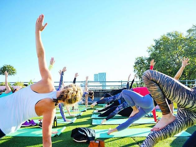 The best rooftop yoga classes in London, serene secret yoga club