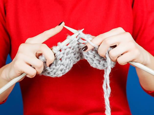 Junte-se a um grupo de tricot