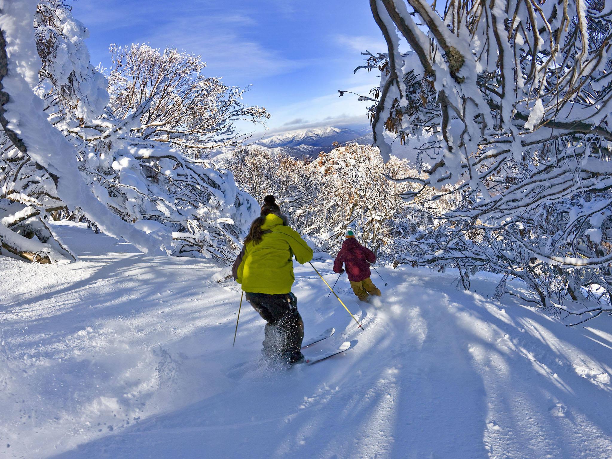 Skiing at Mt Buller
