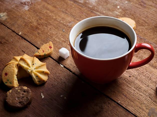 Se réchauffer autour d'un café...