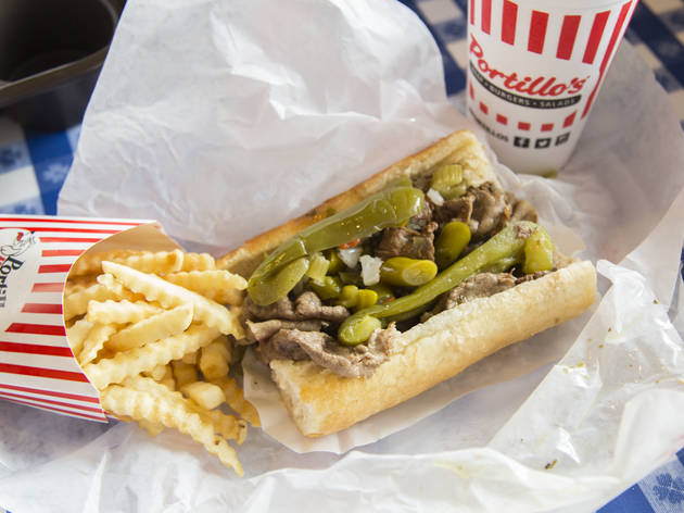 portillo's, hot dogs, taylor st.