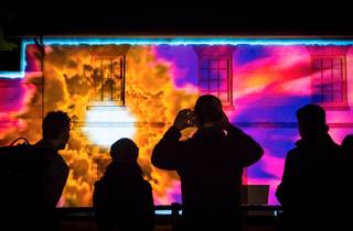 Building projection at Vivid Lights 2016