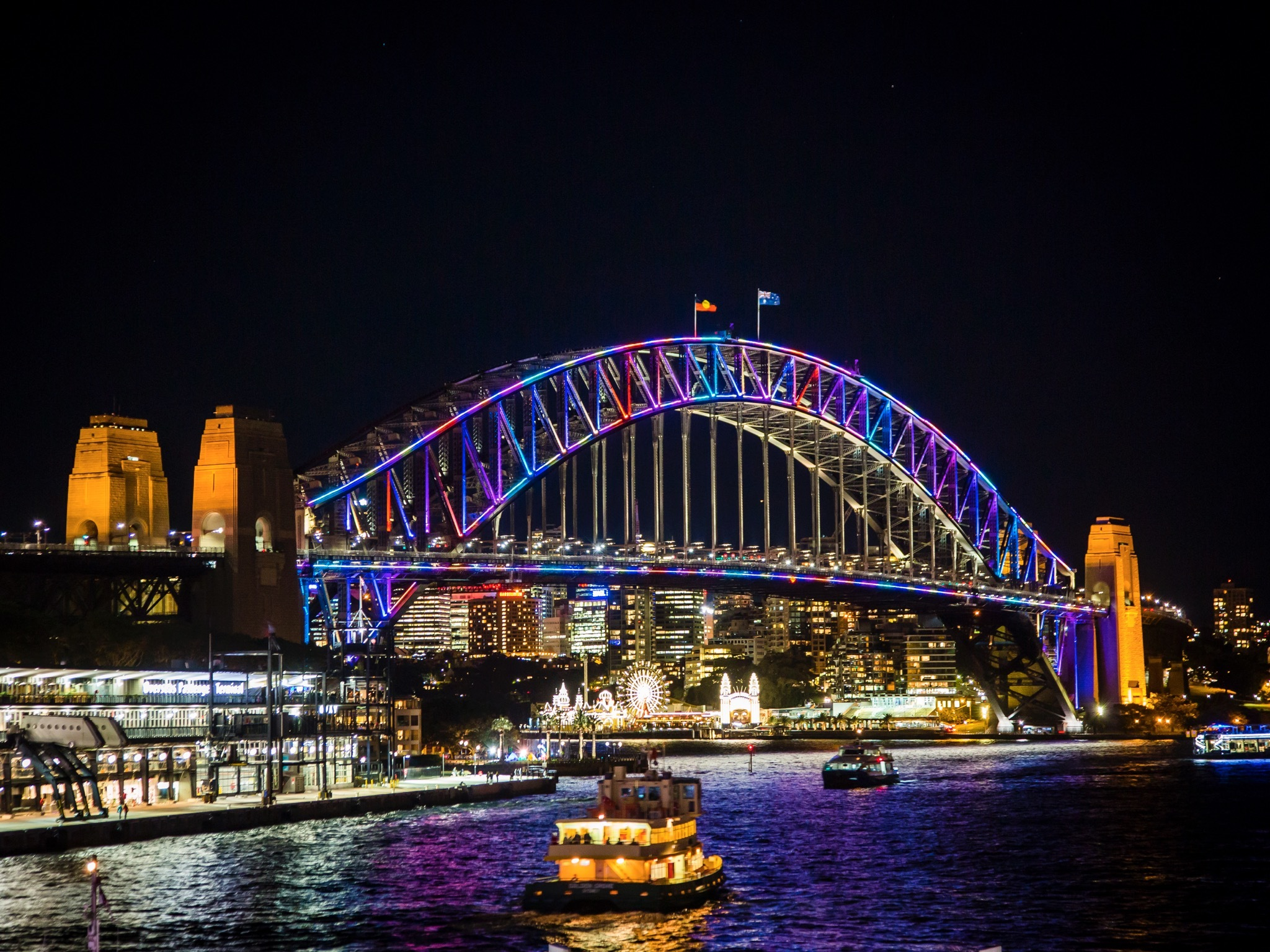 Sydney Harbour Bridge at Vivid Lights 2016