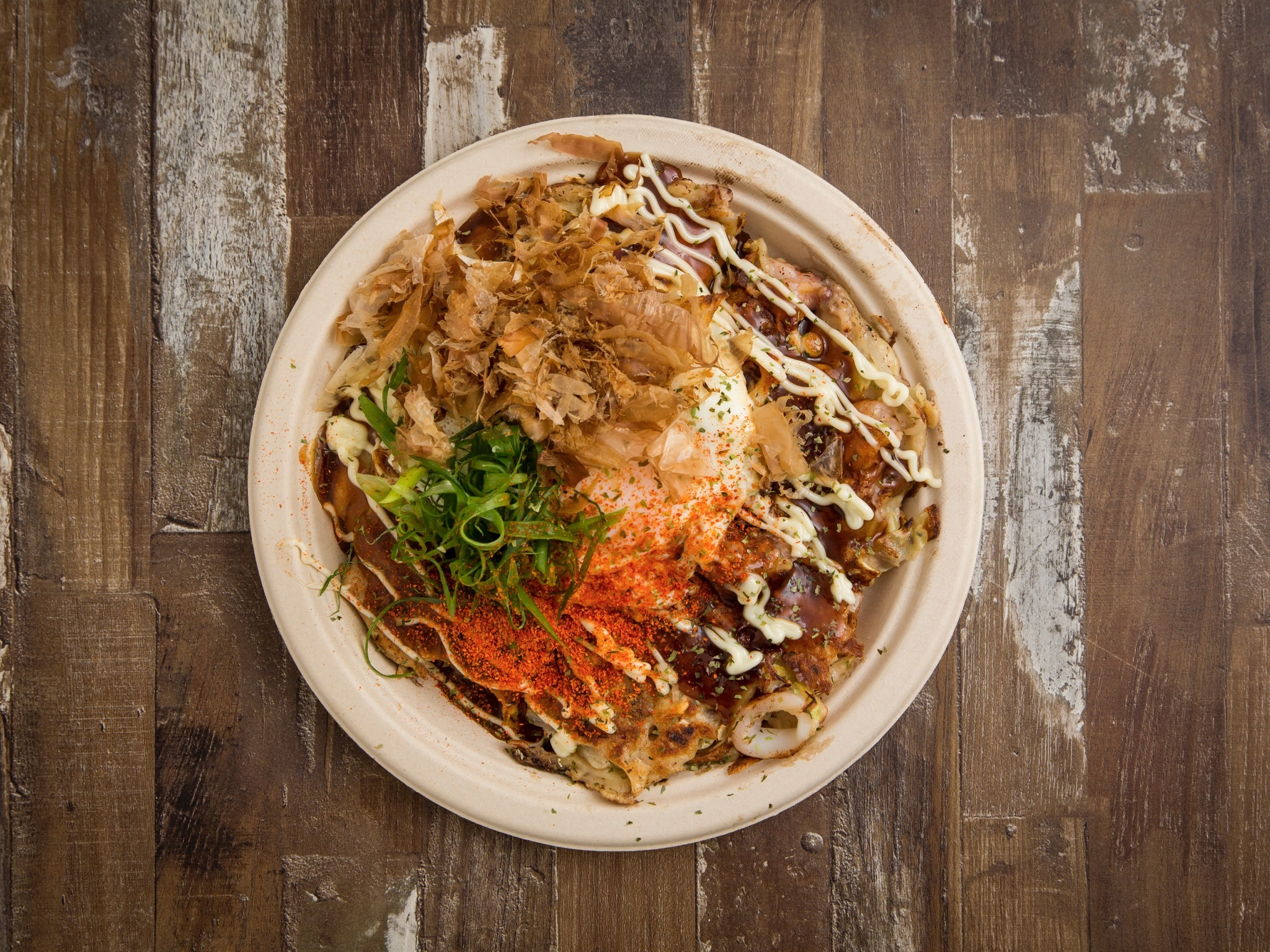 Seafood okonomiyaki at Kyo-to at Spice Alley