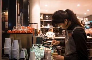 Pouring coffee (Photograph: Anna Kucera)