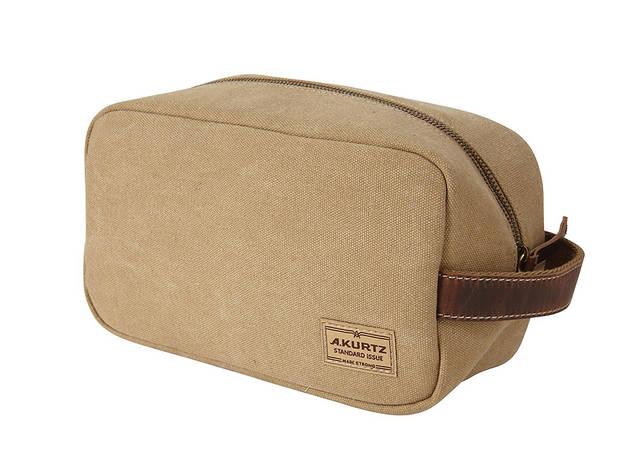 A. Kurtz canvas toiletry bag
