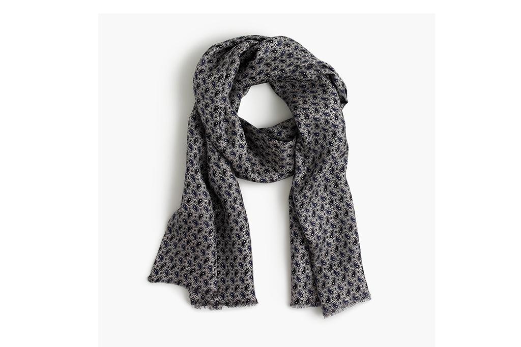 J. Crew lightweight silk twill scarf
