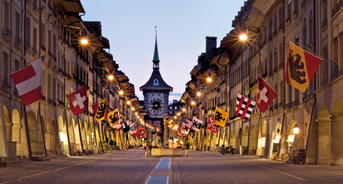 Bern, flags, cantons, Switzerland