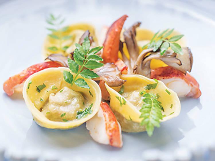 Lobster tortellini (The Ocean)