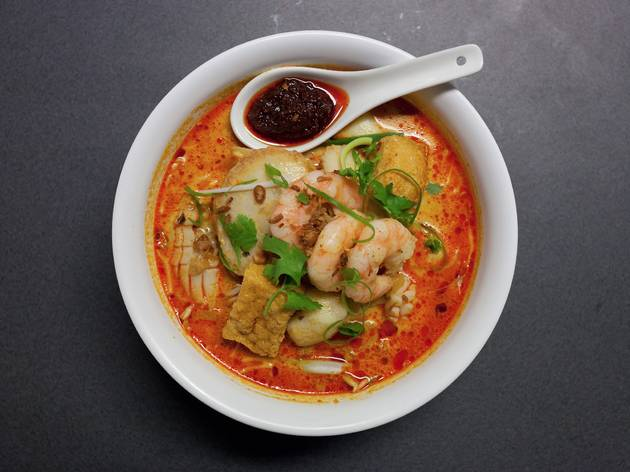 Prawn laksa at Malay Chinese Takeaway
