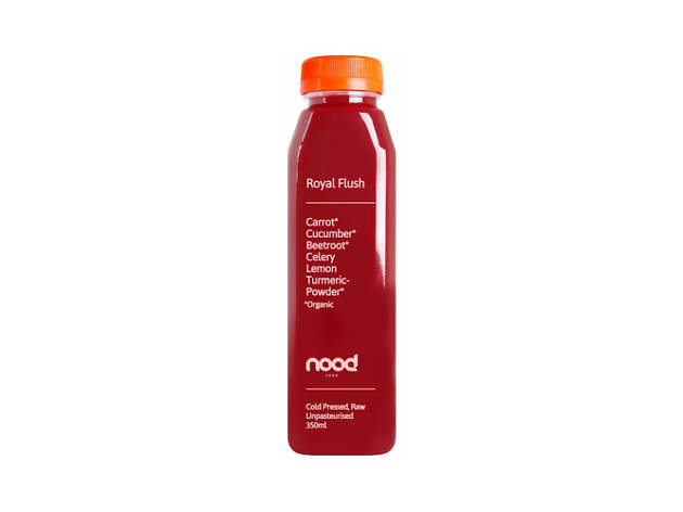Nood Food's Royal Flush cold pressed juice