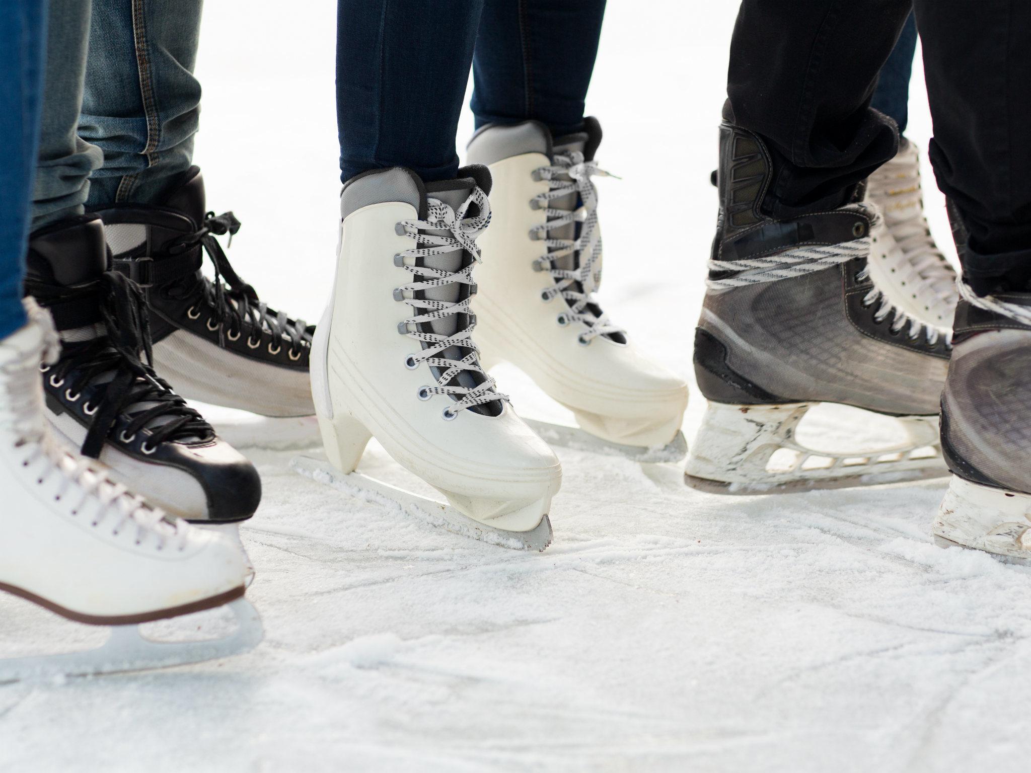 ice skating, silver blades