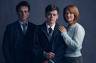 Harry Potter and the Cursed Child Harry Potter (Jamie Parker), Albus Potter (Sam Clemmett), Ginny Potter (Poppy Miller)