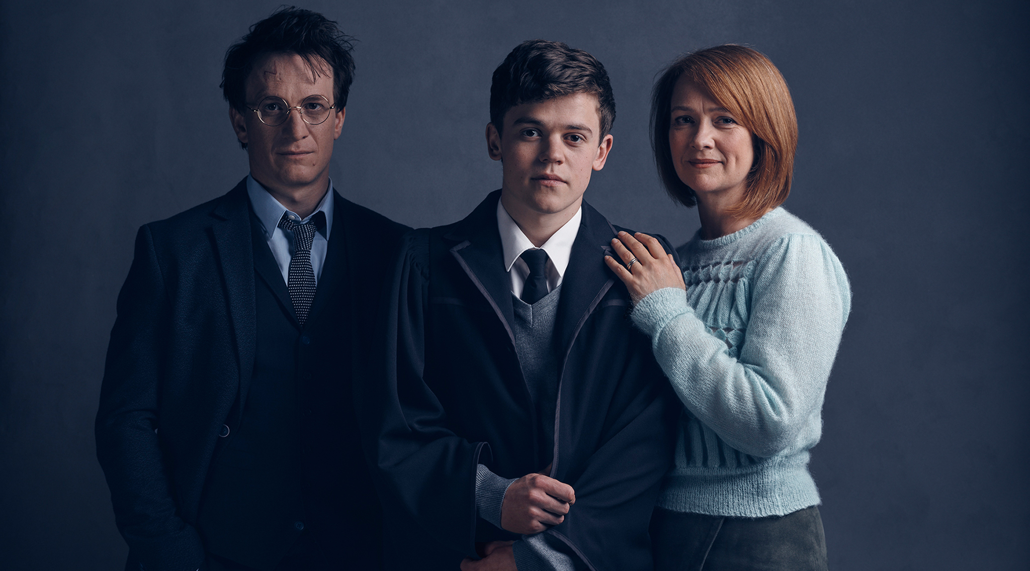 Harry Potter and the Cursed Child Harry Potter (Jamie Parker), Albus Potter (Sam Clemmett), Ginny Potter (Poppy Miller)