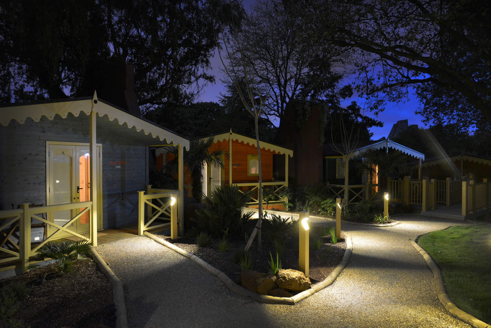 Gir Lion Lodge accommodation at London Zoo
