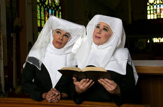 David Cerda and Ed Jones in a publicity image for Hell in a Handbag Productions' The Divine Sister