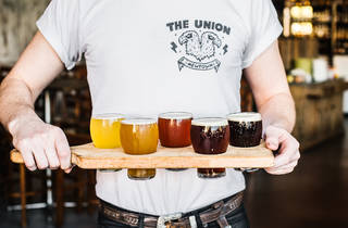 Beer paddle at the Union Hotel