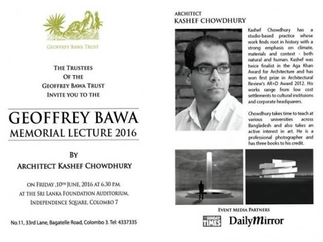 Geoffrey Bawa Memorial Lecture 2016