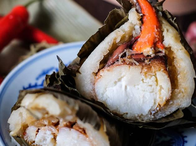 Chilli crab dumpling from Golden Peony