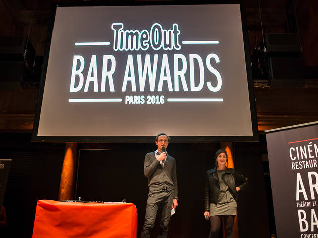 Bar Awards 6 (Our hosts for the evening, Time Out Paris's Thibaut Court and Zazie Tavitian © Anthony Micallef)