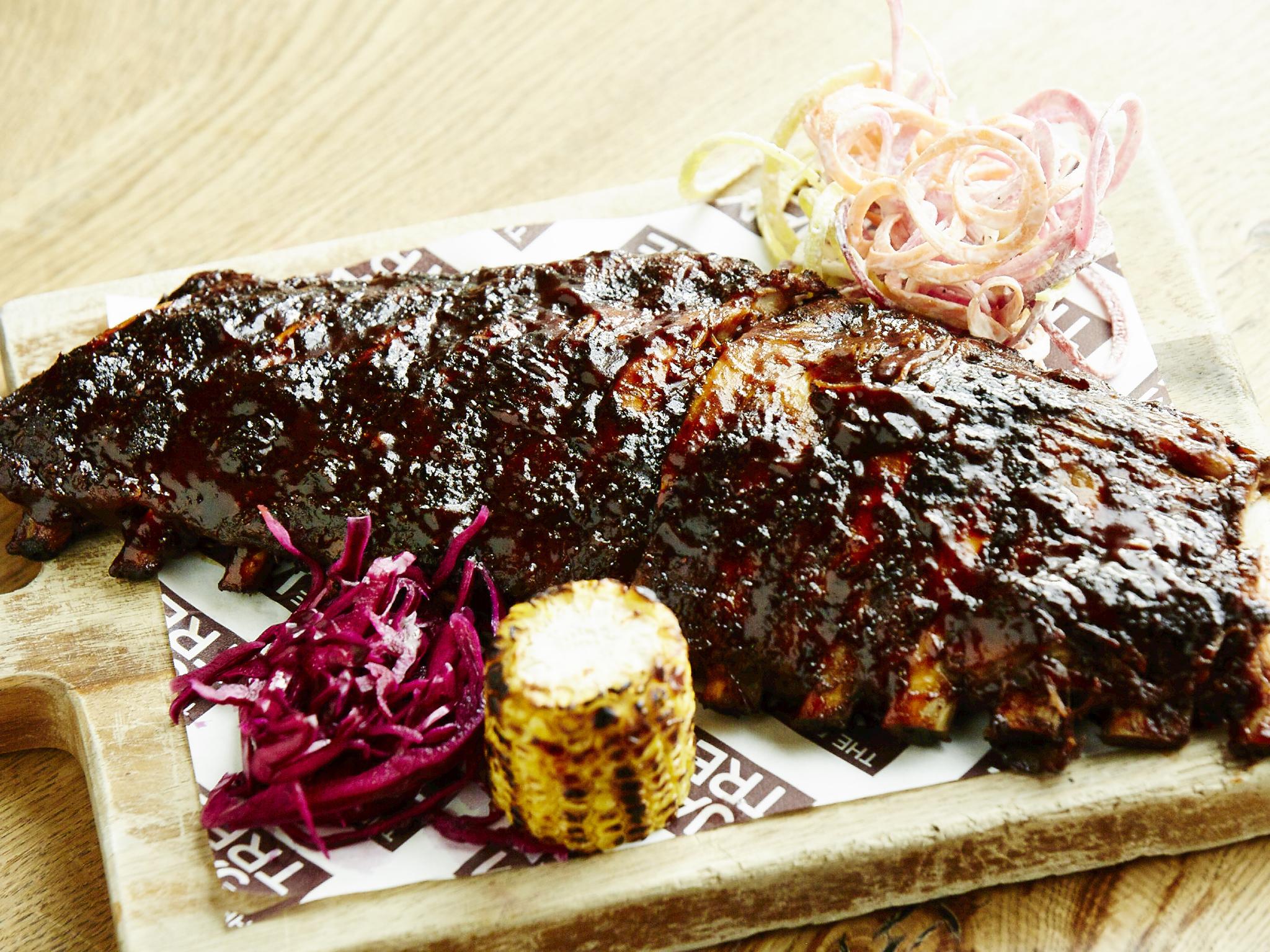jam tree chelsea, rack of ribs, best barbecues in london