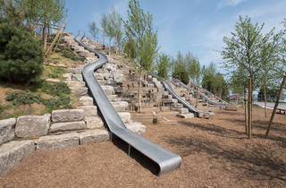 These cool playground slides will open with The Hills on Governor's Island