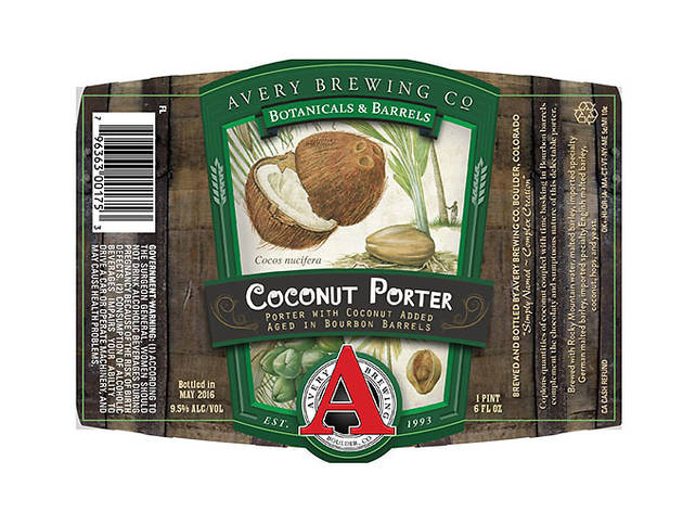Coconut Porter, Avery Brewing Company, Boulder, CO