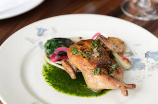 Grilled quail at Schilling