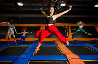 People on trampolines at Sky Zone