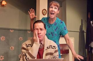 Laurie Metcalf and French Stewart in Voice Lessons