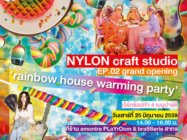 NYLON craft studio: ep 02 Rainbow house warming party