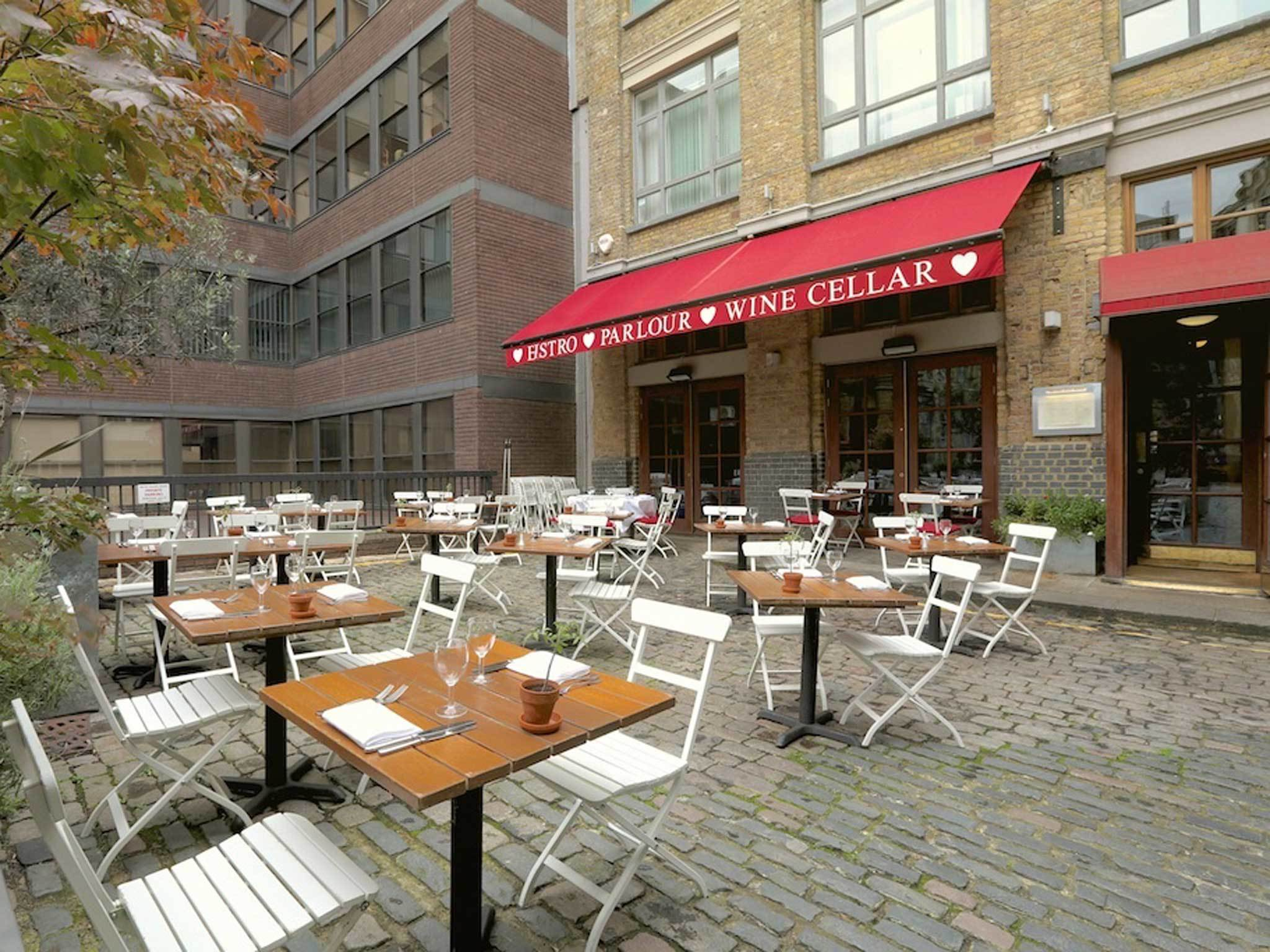 London's best outdoor dining, bleeding heart