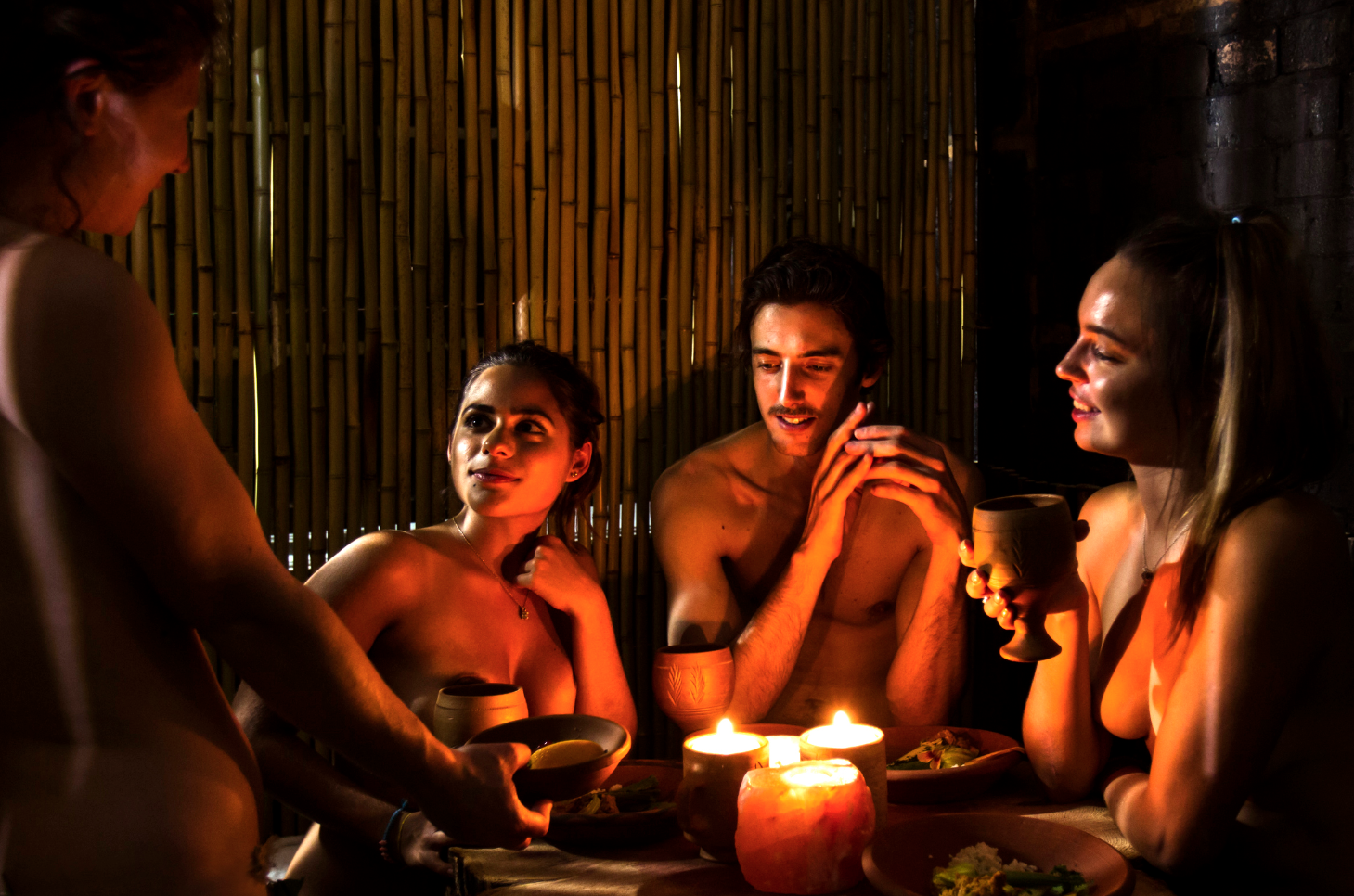 Exclusive: this is what it's like to eat at the naked restaurant