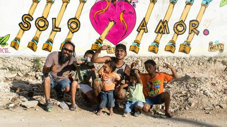Entrevista de arte urbano para niños con Os Ley