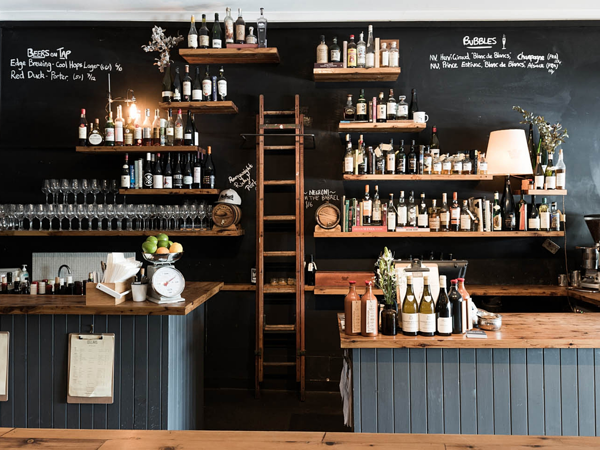 The interior of Toorak Cellars wine bar in Armadale