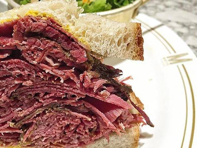 Morty's Delicatessen pastrami sandwich