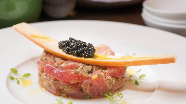 Yellowfin tuna tartare