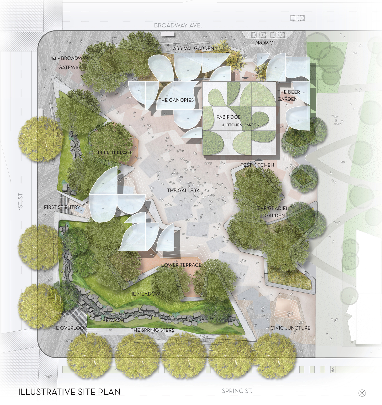 Helix Architecture Design Project Crossroads Parking: Take A Look At FAB Park, The Downtown Green Space Headed